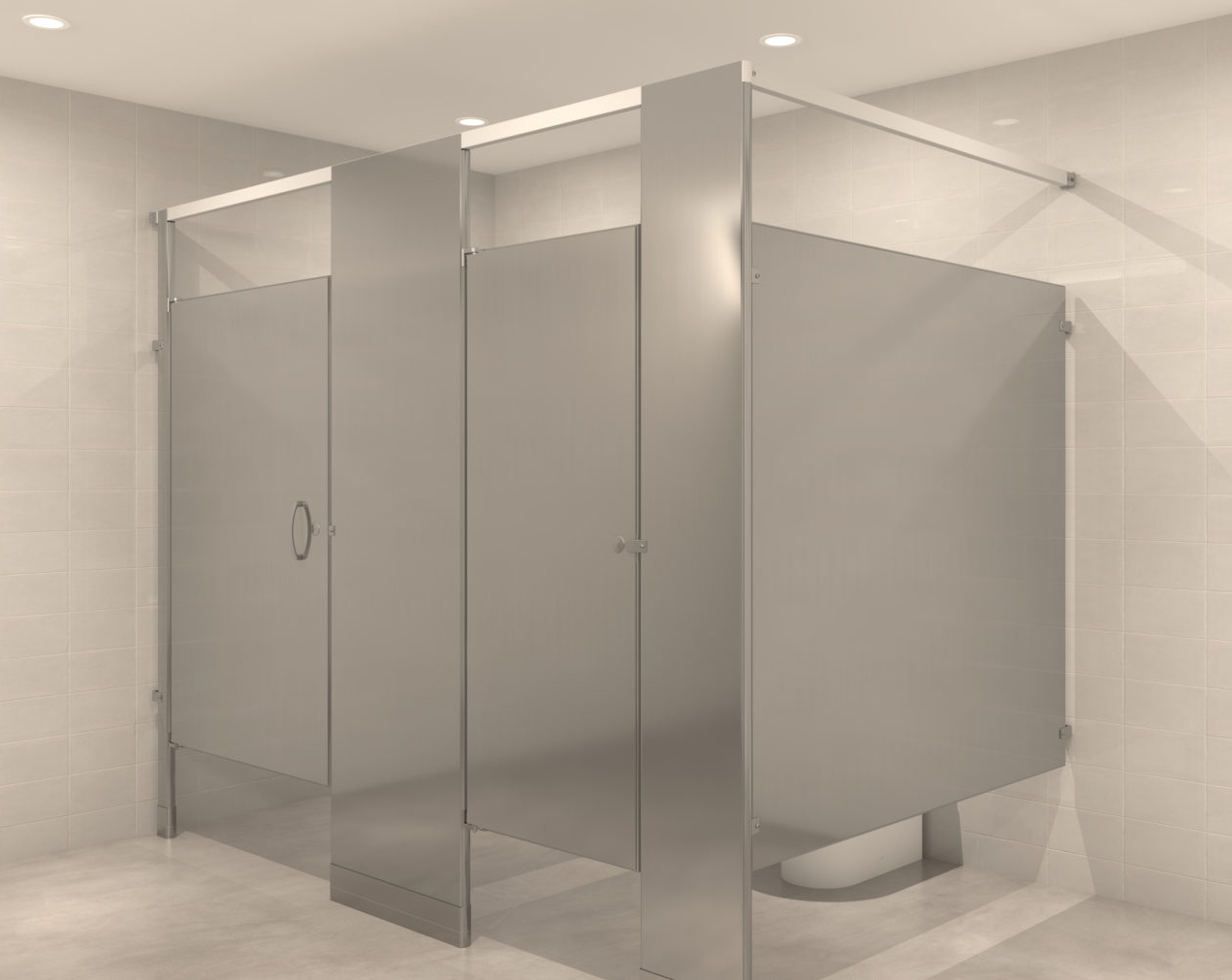 Stainless Steel Toilet Partitions, Stainless Steel Bathroom