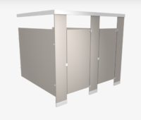Plastic-laminate-toilet-partition