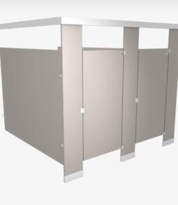 Plastic-laminate-toilet-partition