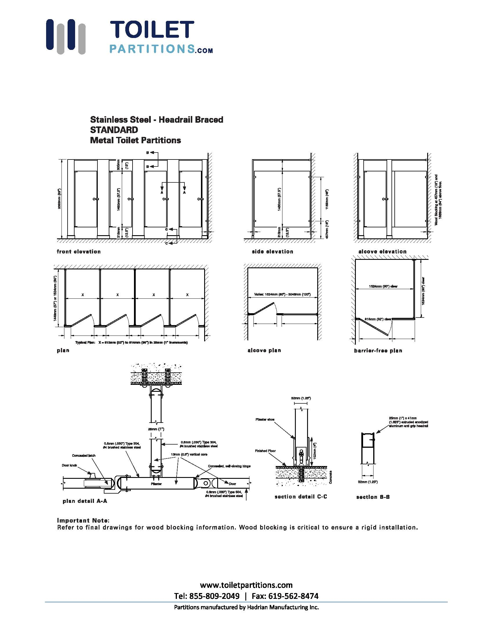 Bathroom Partition Heights Find Out Here Toiletpartitions Com
