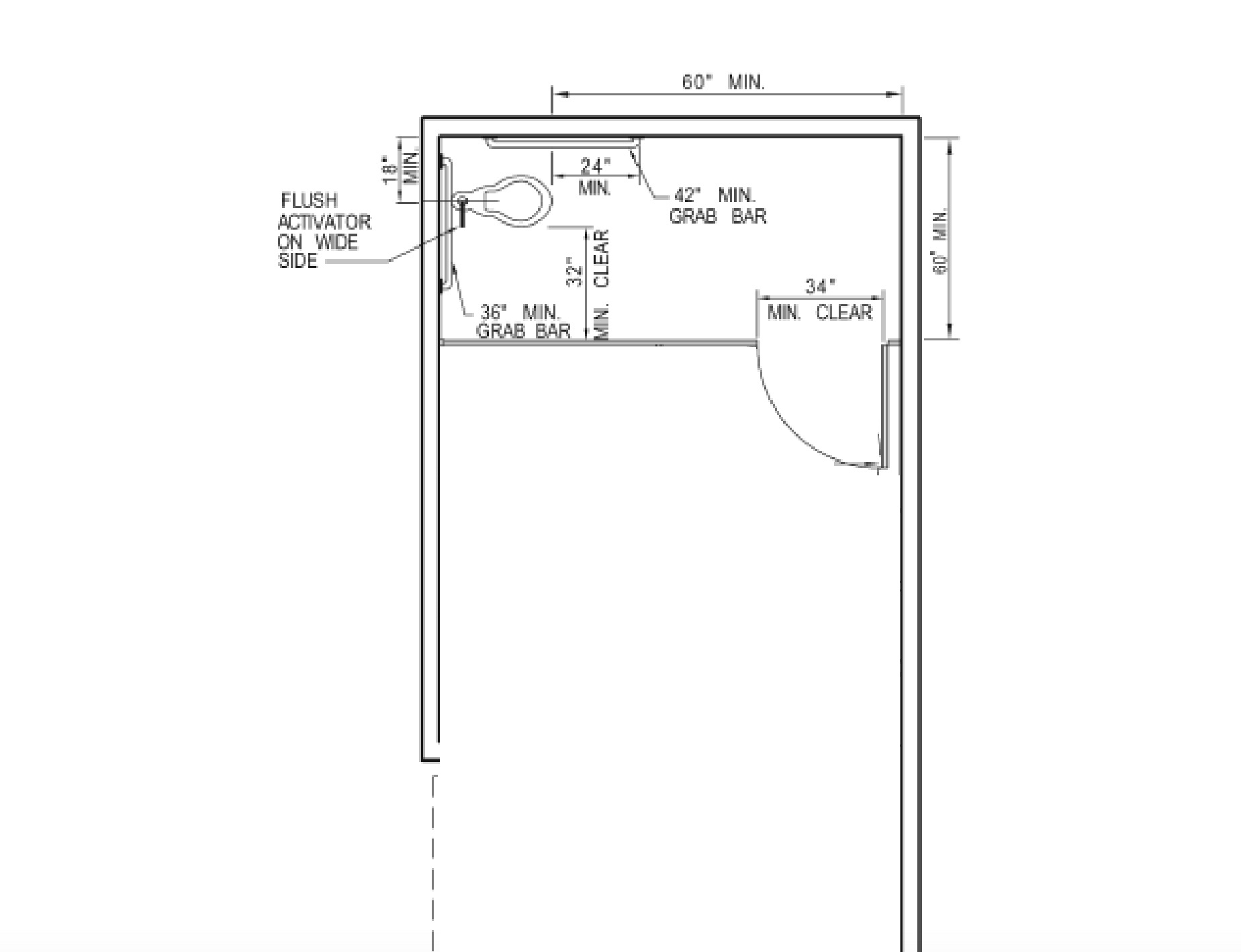 Bathroom Stall Dimensions Ada Sizes Toilet Partitions