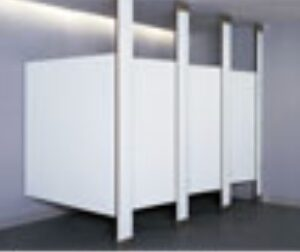 Bobrick Floor to ceiling toilet partitions