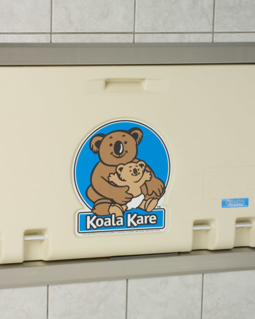 Koala Kare KB100-00ST Recessed Horizontal Baby Changing Station - Cream