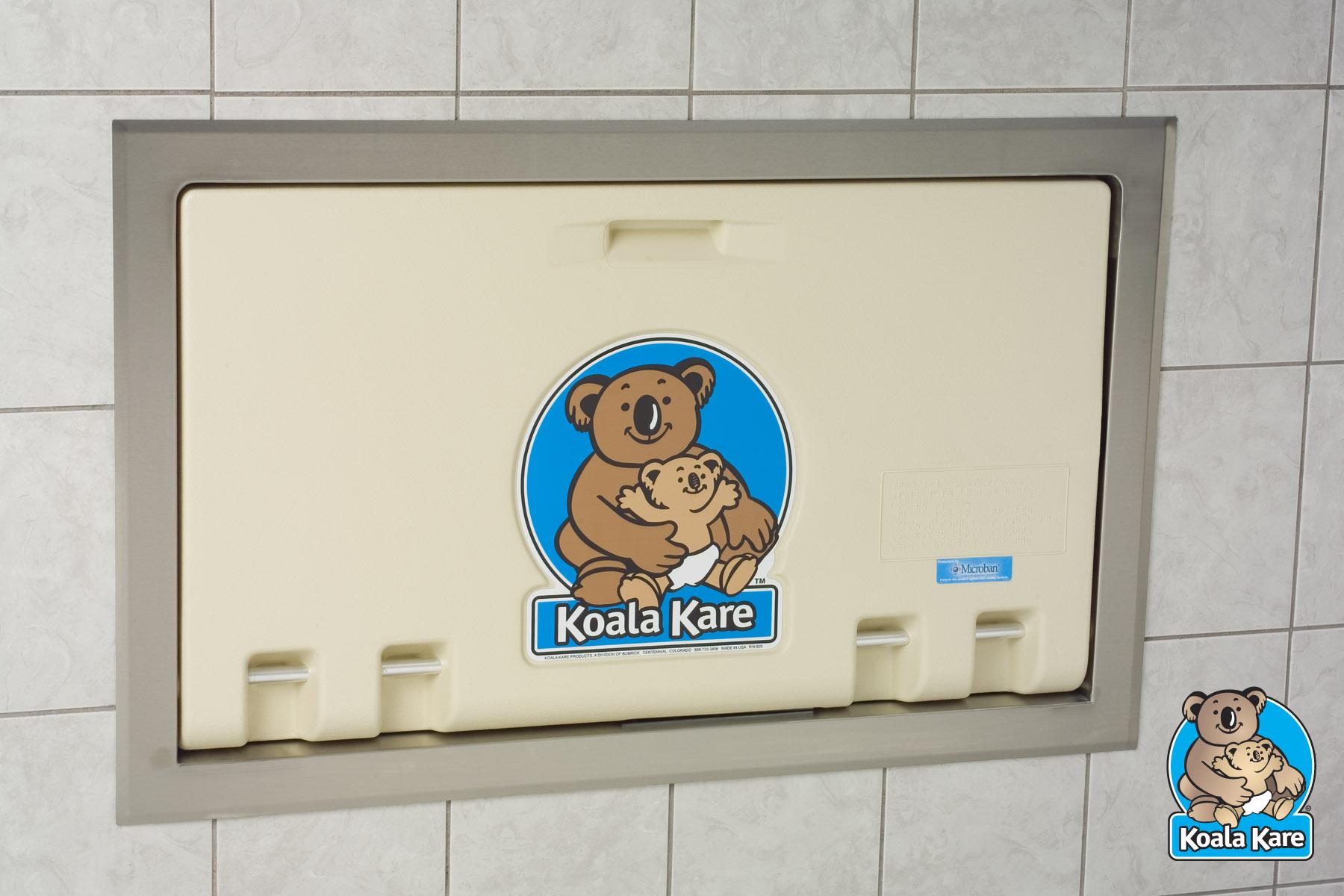 Koala Kare KB100-00ST Recessed Horizontal Baby Changing Station - Cream