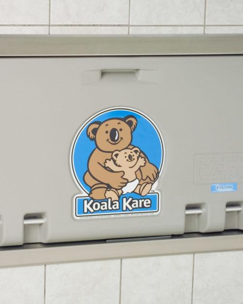 Koala Kare KB100-01ST Recessed Horizontal Baby Changing Station - Grey
