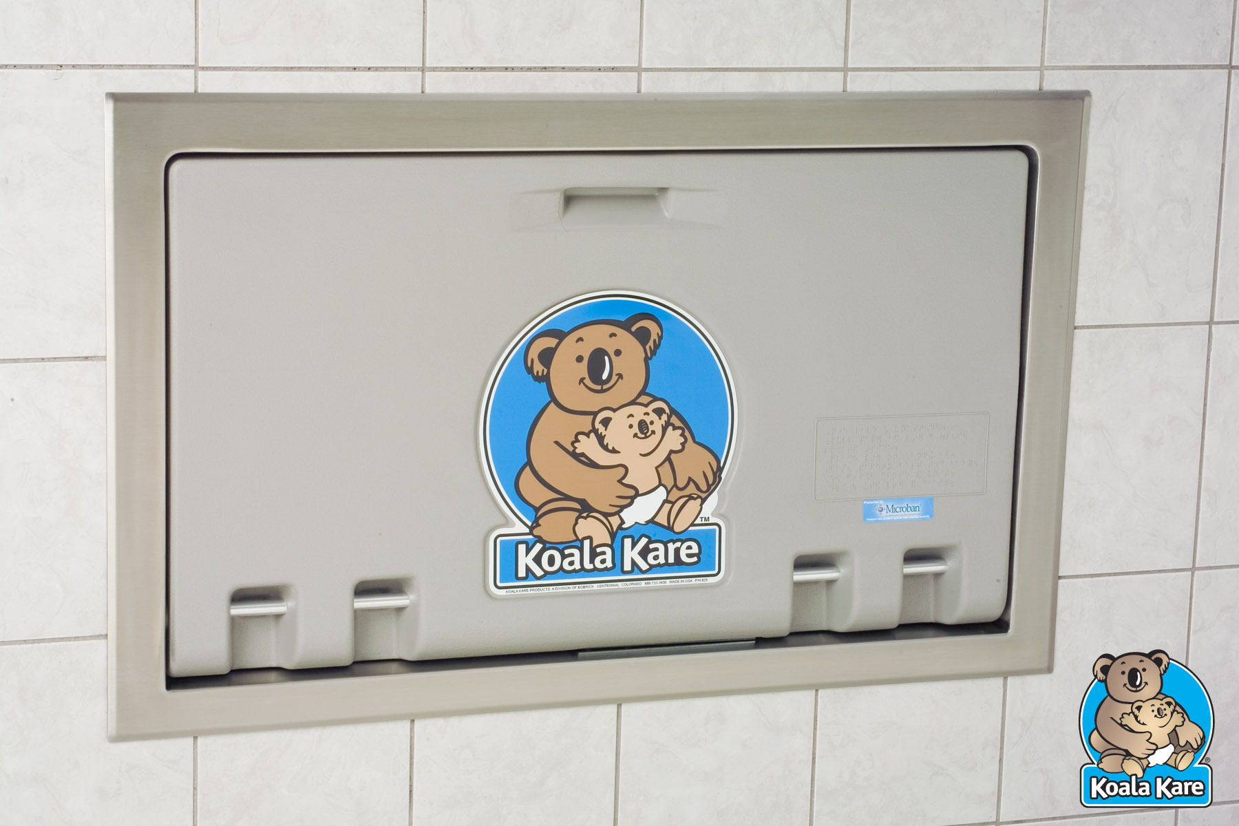 Koala Kare KB100-01ST Recessed Horizontal Baby Changing Station - Grey
