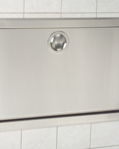 Koala Kare KB110-SSRE Horizontal Recessed Baby Changing Station - Stainless Steel