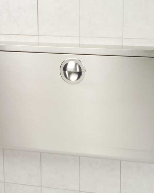 Koala Kare KB110-SSWM Horizontal Surface Mounted Baby Changing Station - Stainless Steel