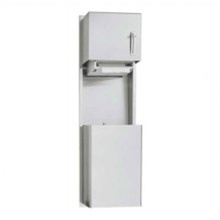 Asi Paper Towel Dispenser And Waste Receptacle 046924