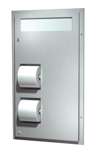 American Specialties 0485-R Recessed Seat Cover and Toilet Tissue Dispenser Combo Unit (Reverse)