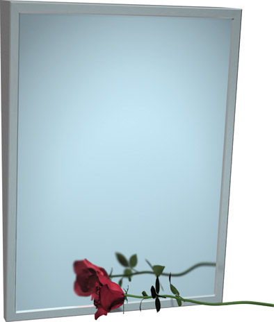 "American Specialties 0535-1830 18"" x 30"" Fixed Tilt Mirror"