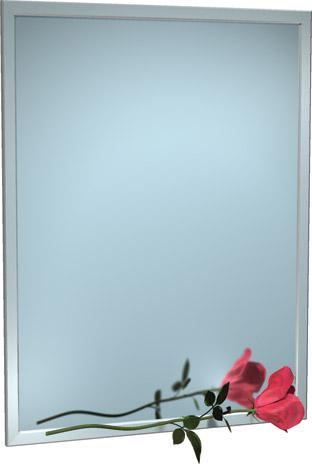 "American Specialties 0600-2460  24"" x 60""  Interlok Angle Frame Plate Glass Mirror"