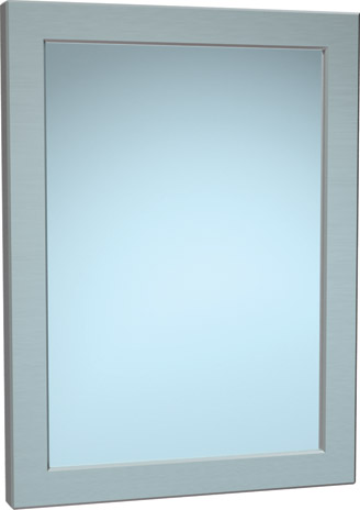 "American Specialties 101-14  12"" x 16""  Rear Mounted Security Framed Mirror"