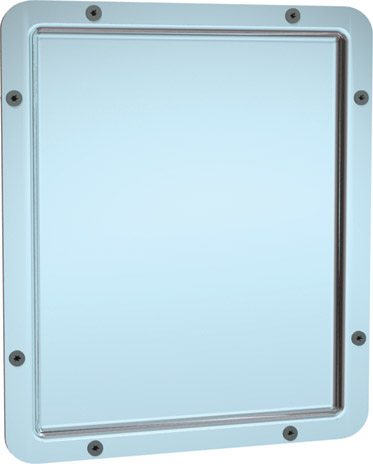 American Specialties 104-14 Security Framed 20 Gauge Mirror