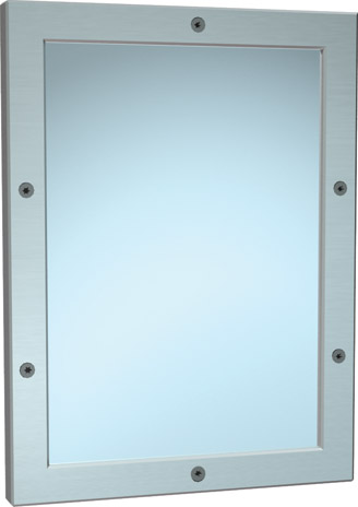 "American Specialties 105-14  12"" x 16""  Front Mounted Security Framed Mirror"
