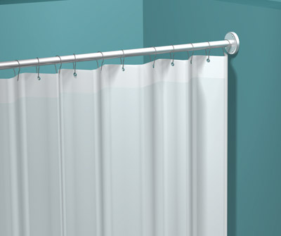 "American Specialties 1200-V84  84"" x 72""  White Vinyl Shower Curtain"