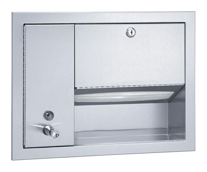 Bradley 1471 Recessed Towel & Liquid Soap Dispenser