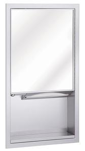 Bradley 155-11 Surface Mounted Mirror & Towel Dispenser Unit