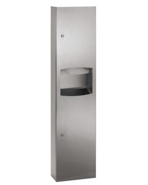 Bradley 2017 Recessed Folded Towel Dispenser & 4.9 gal. Waste Receptacle