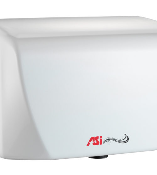 American Specialties 0198-1 TURBO-Dri Jr. Surface Mounted High-Speed Dryer (110-120V) White