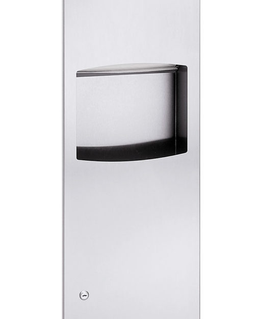 Bradley 2027 Recessed Folded Towel Dispenser & 3.3 gal. Waste Receptacle