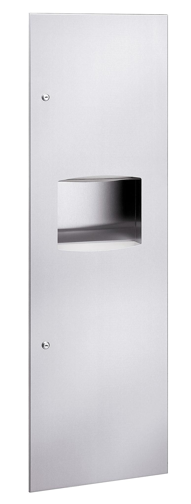 Bradley 2037-10 Semi-Recessed Folded Towel Dispenser & 11.2 gal. Waste Receptacle