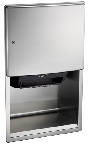 American Specialties 204523A Recessed Automatic Roll Paper Towel Dispenser