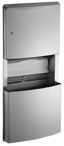 American Specialties 204623-9 Surface Mounted Paper Towel Dispenser & Removable Waste Receptacle