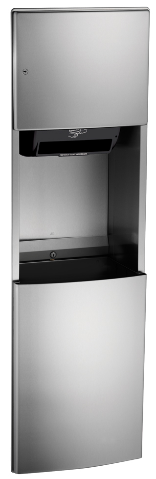 American Specialties 204692A Automatic Recessed Roll Paper Towel Dispenser & Waste Receptacle