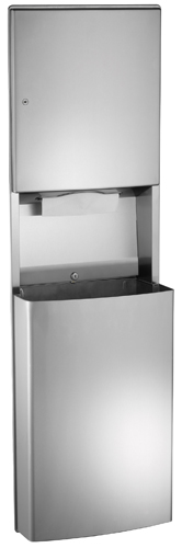 American Specialties 20469-9 Surface Mounted Paper Towel Dispenser & Waste Receptacle