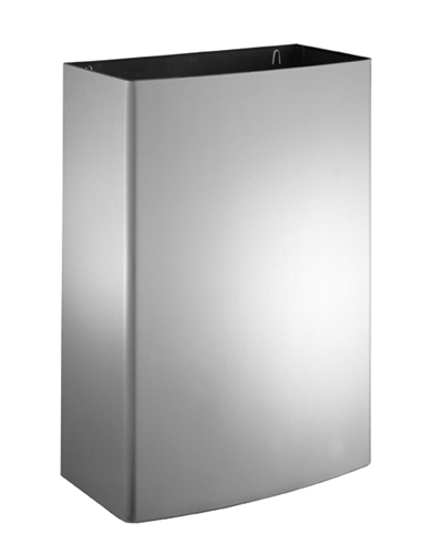 American Specialties 20826-T Surface Mounted Waste Receptacle with Closed Top & Push Door