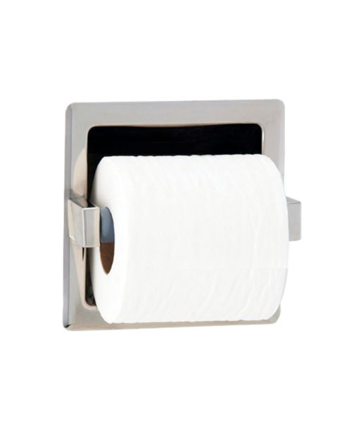 Gamco 212 Recessed Toilet Tissue Holder - Polished Finish