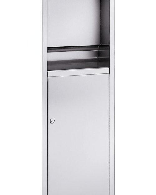 Bradley 225-11 Surface-Mounted Paper Folded Towel Dispenser & 9.2 gal. Waste Receptacle