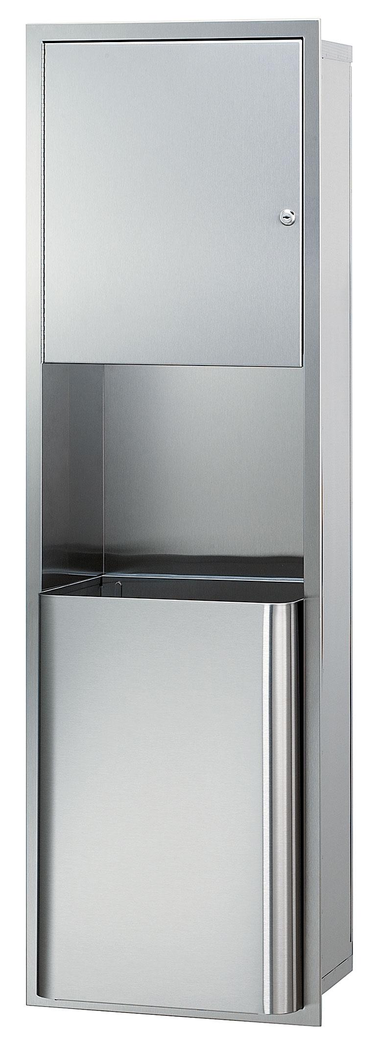 Bradley 2271-10 Semi-Recessed Towel Dispenser & 18 gal. Waste Receptacle (No Dispenser)
