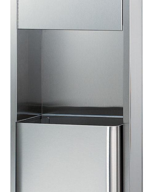 Bradley 2271-11 Surface-Mounted Towel Dispenser & 18 gal. Waste Receptacle (No Dispenser)