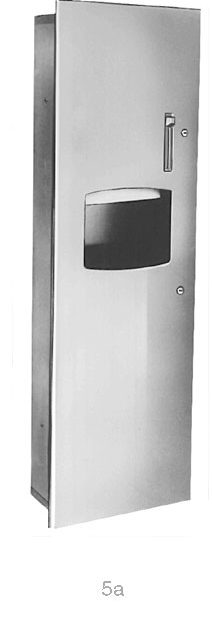 Bradley 2277-10 Semi-Recessed Roll Towel Dispenser & 10.5 gal. Waste Receptacle