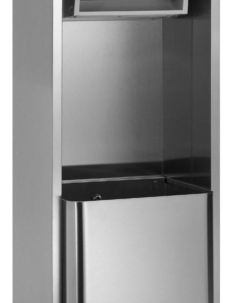 Bradley 227 Recessed Roll Towel Dispenser & 18 gal. Waste Receptacle