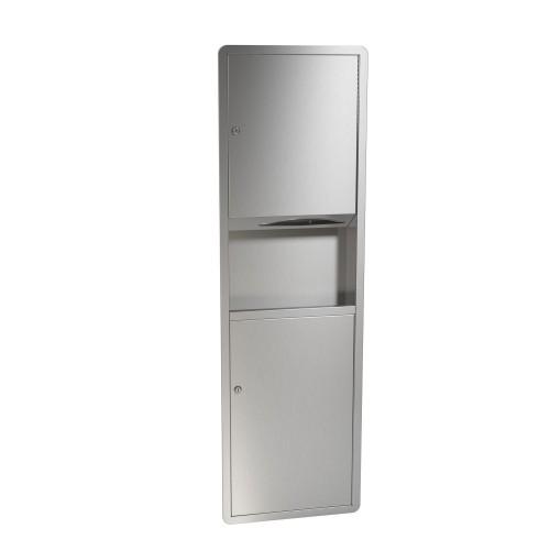 Bradley 235-10 Semi-Recessed Towel Dispenser & Waste Receptacle