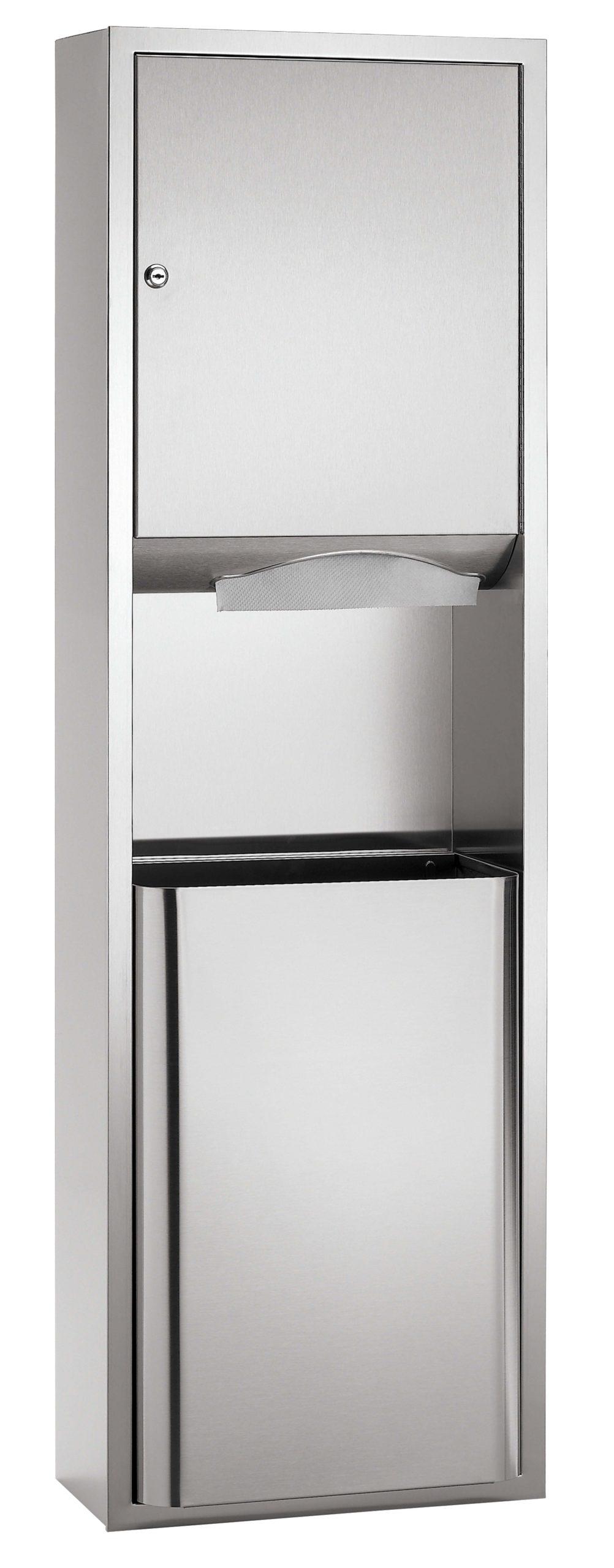 Bradley 237-36 Recessed Towel Dispenser & Waste Receptacle w/ 18 gal. Capacity