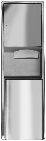 Bradley 237-11 Surface-Mounted Towel Dispenser & Waste Receptacle