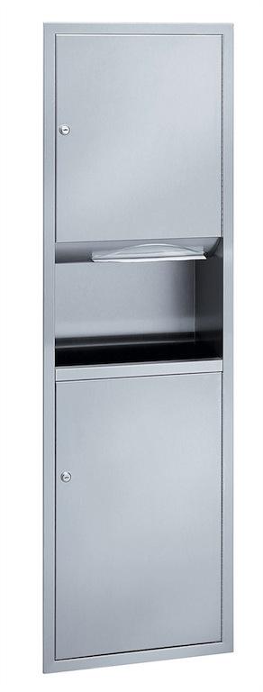Bradley 238 Recessed Towel Dispenser & Waste Receptacle