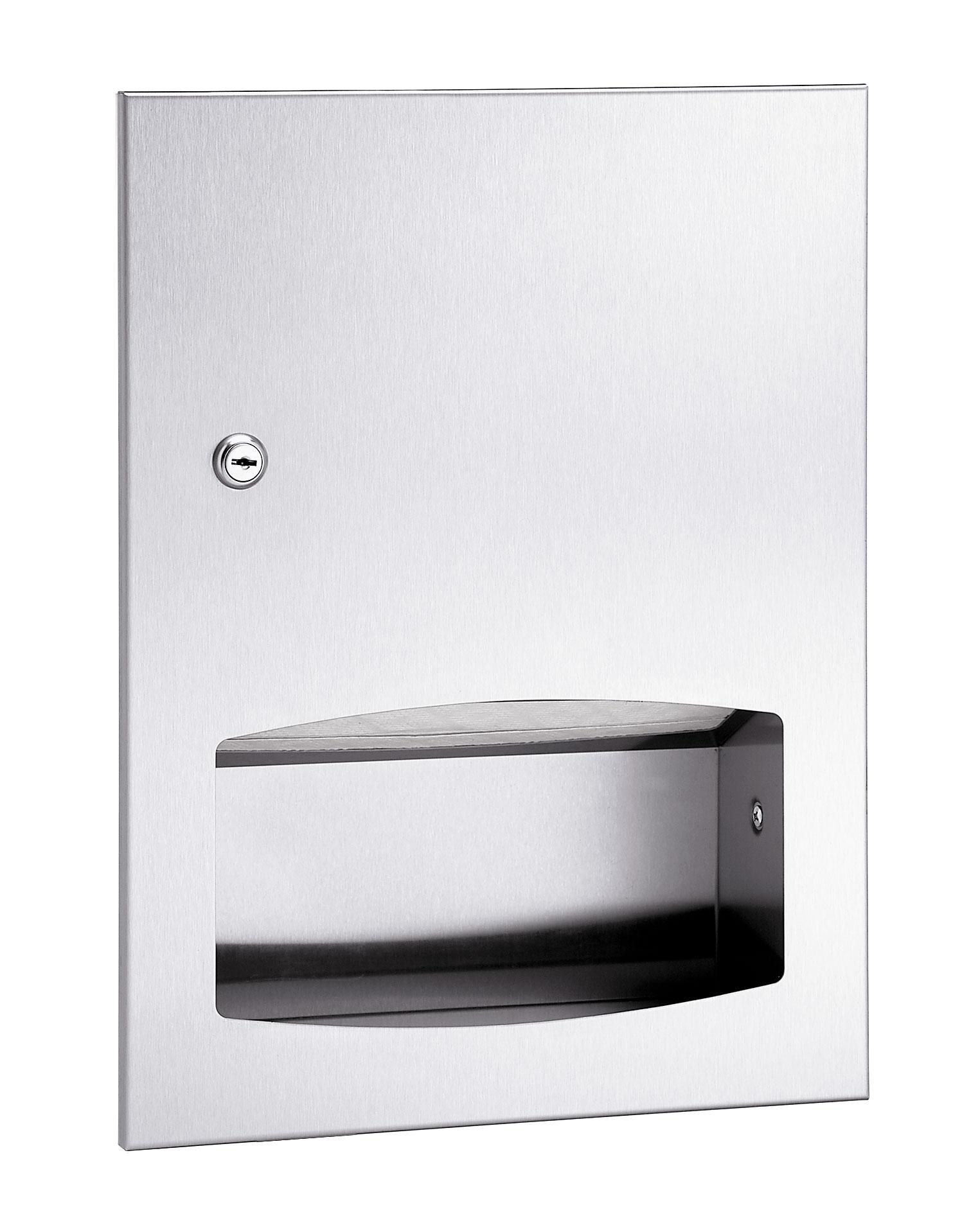 Bradley 2442 Contemporary Series Recessed Towel Dispenser