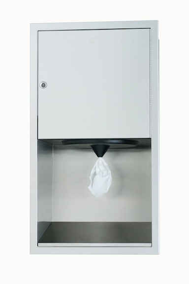 Bradley 2479-10 Semi-Recessed Center Pull Towel Dispenser