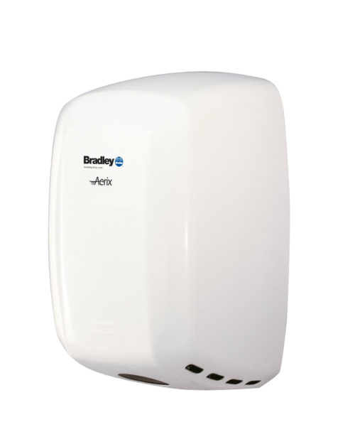 Bradley Aerix 2901-2873 White Adjustable Speed Hand Dryer