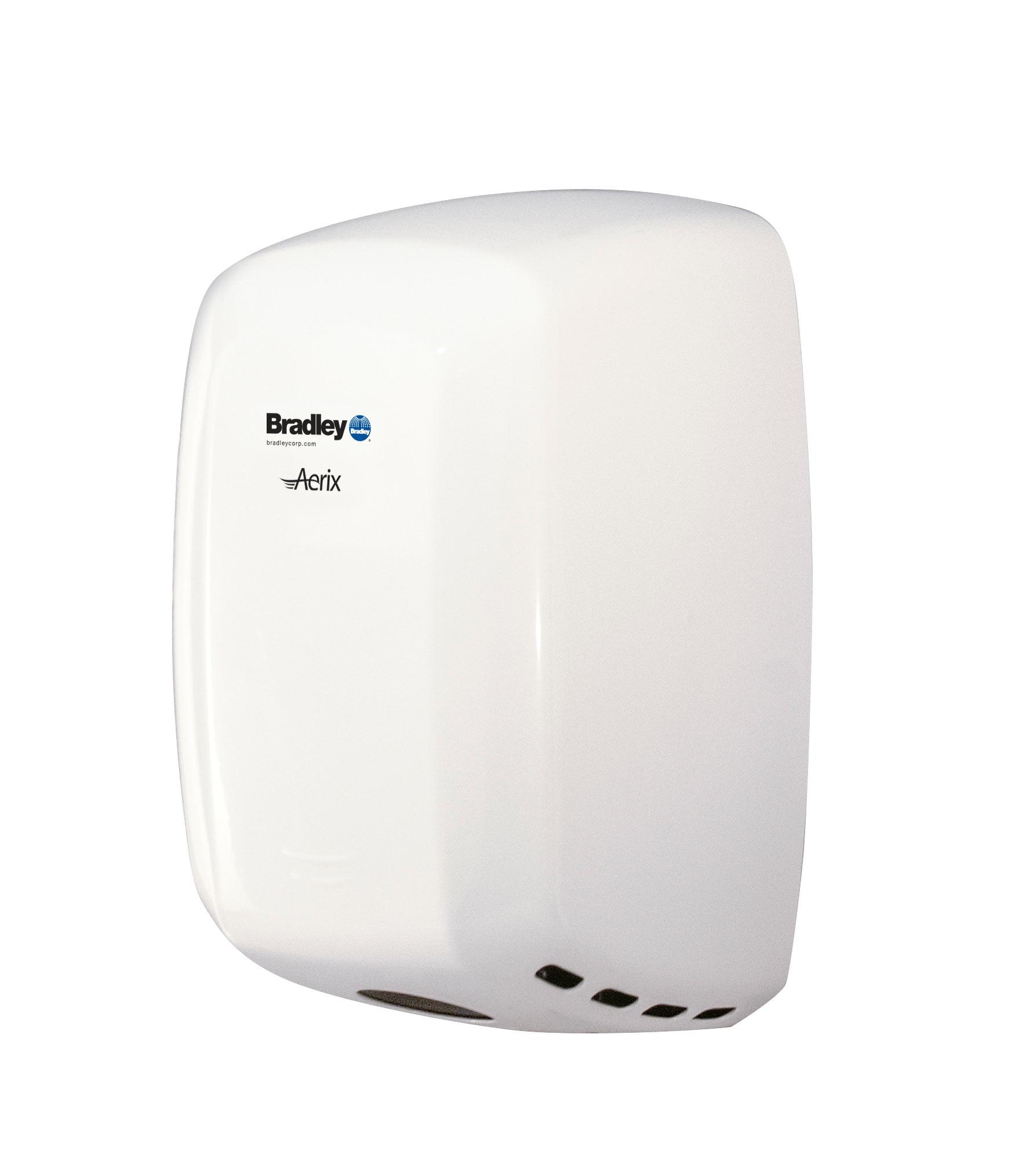 Bradley Aerix 2901-2873 White Adjustable Speed Hand Dryer