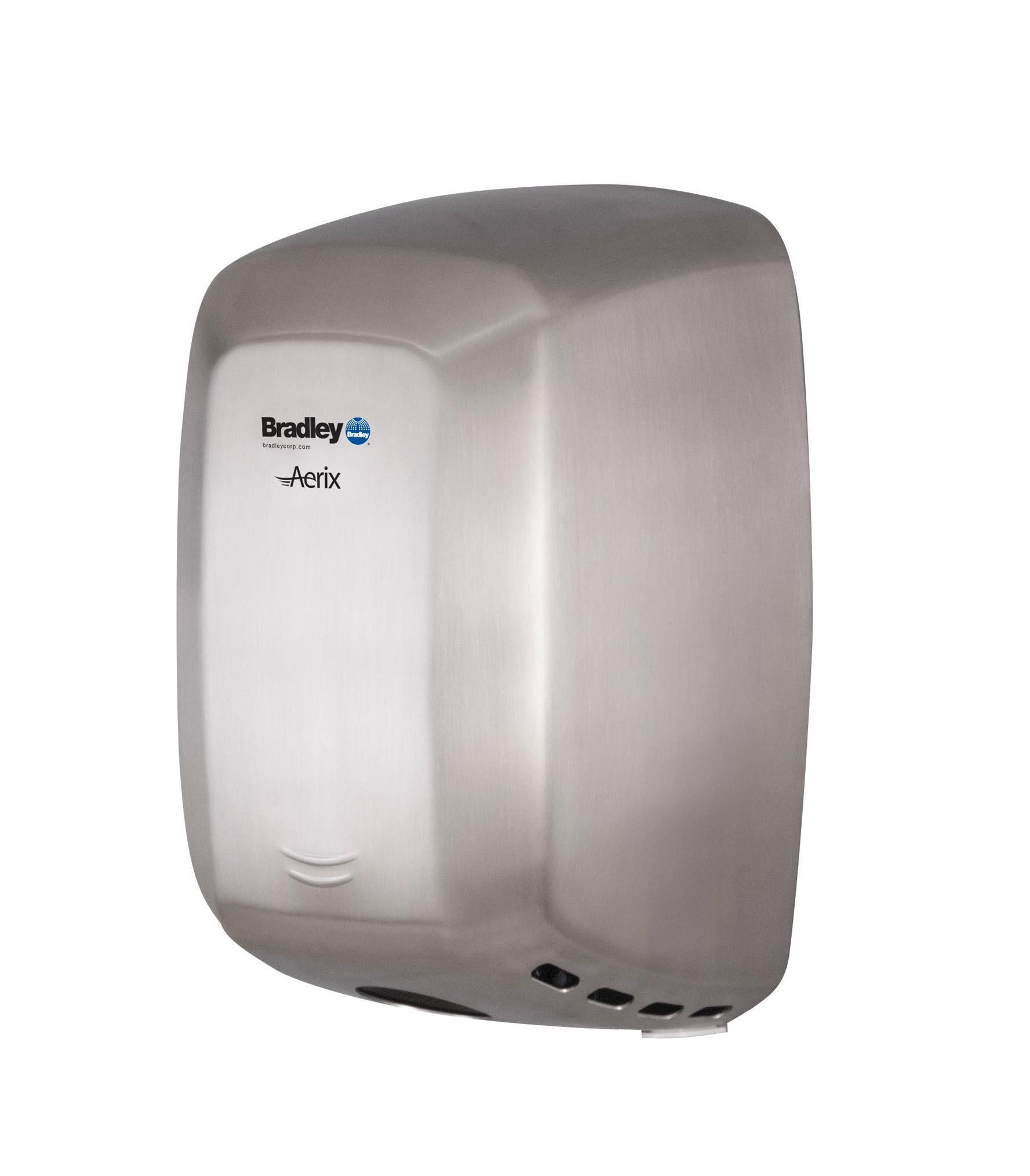 Bradley Aerix 2901-2874 Satin Stainless Steel Adjustable Speed Hand Dryer
