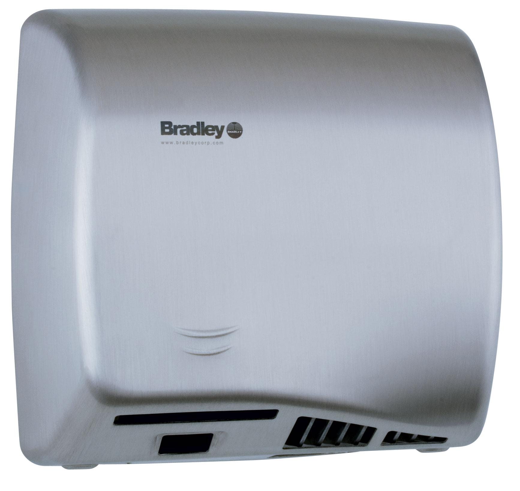 Bradley Aerix 2902-2874 Satin Stainless Steel Adjustable Sensor-Operated Hand Dryer
