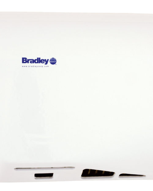 Bradley Aerix 2902-2873 White Adjustable Sensor-Operated Hand Dryer