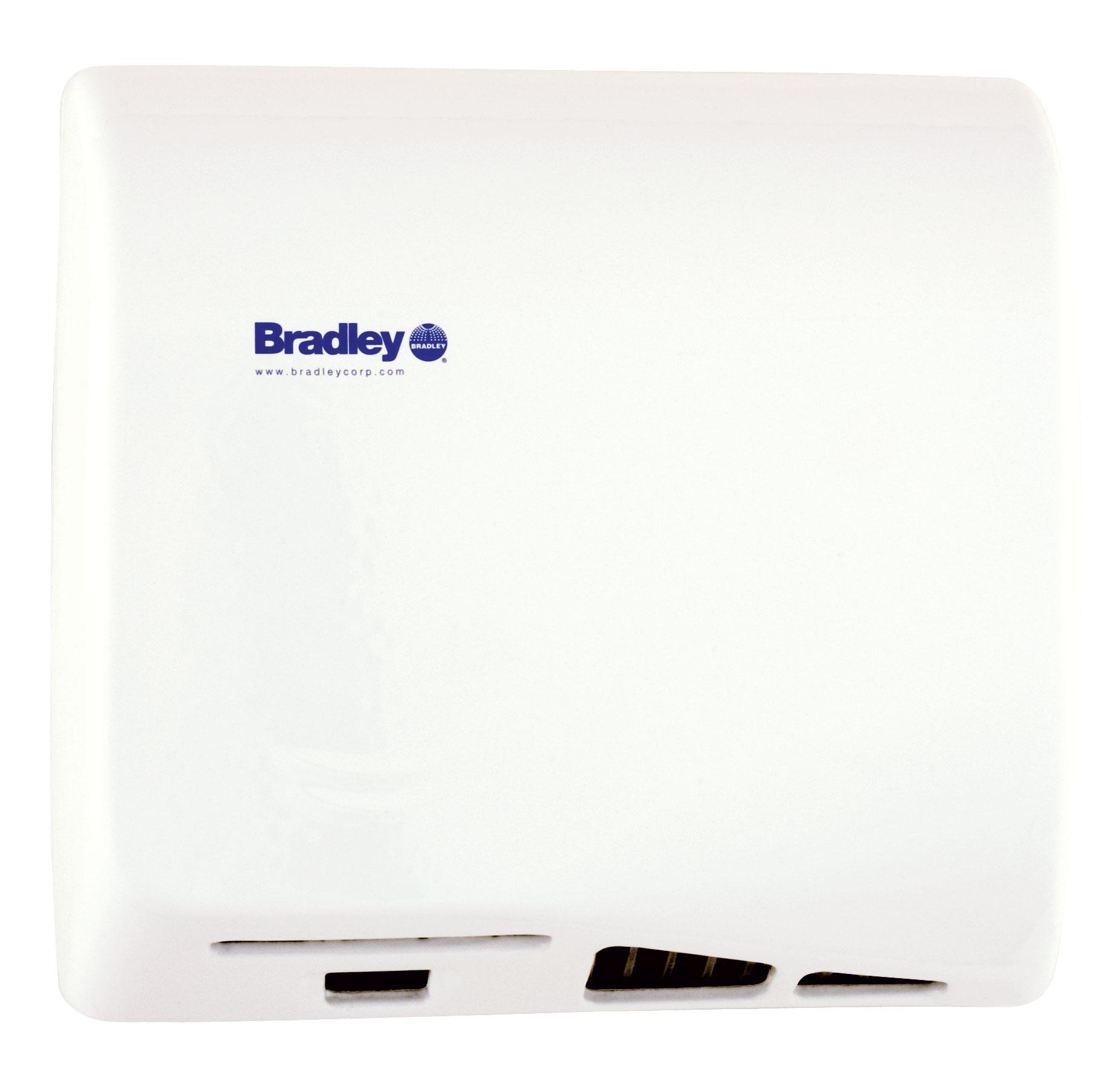 Bradley Aerix 2902-2873 White Adjustable Sensor-Operated Hand Dryer