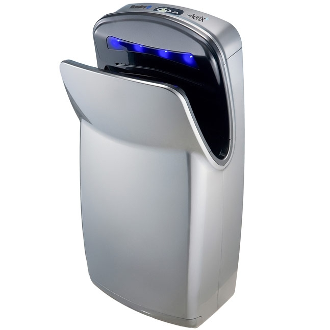 Bradley Aerix 2921-S 110-120V Silver Surface Mounted Hand Dryer